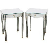 Mirrored End Tables Nightstands | Home Design Ideas