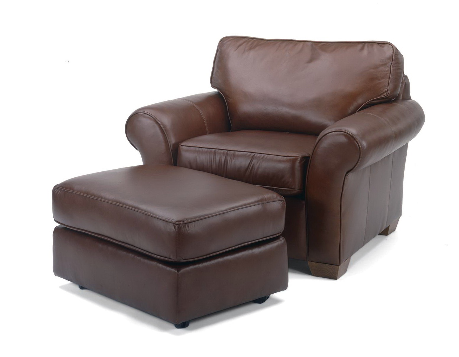 Oversized Leather Chair With Ottoman  Home Design Ideas