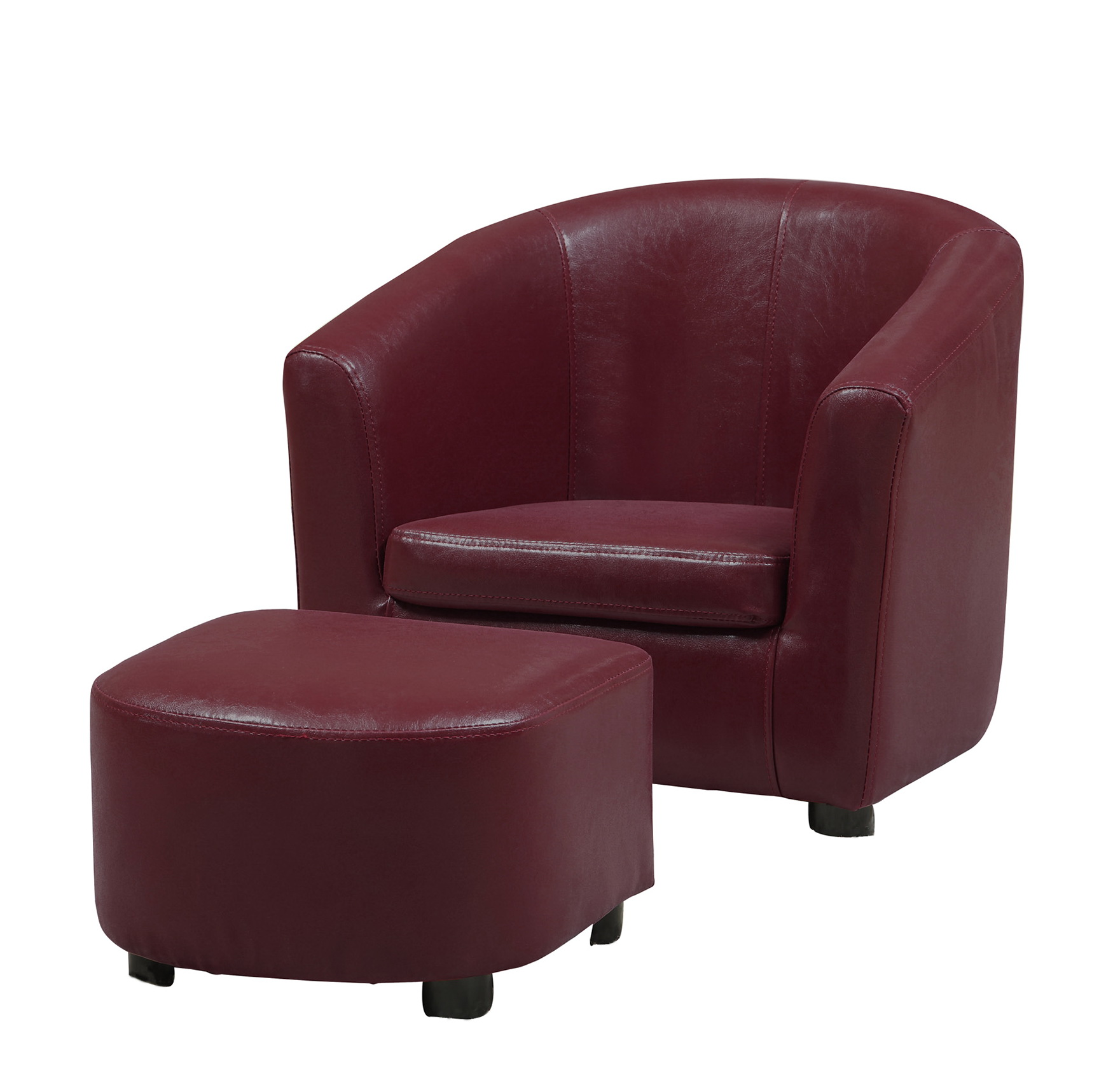 red leather chair and ottoman unusual swivel home design ideas