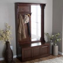 Wooden Hall Tree Storage Bench Home Design Ideas