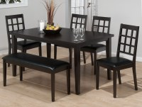 black dining room table with bench black dining room table ...