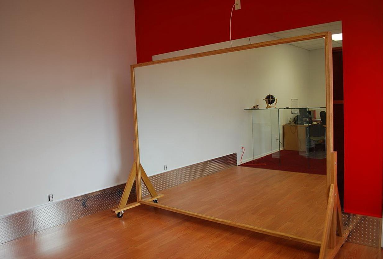 Dance Studio Mirrors On Wheels  Home Design Ideas