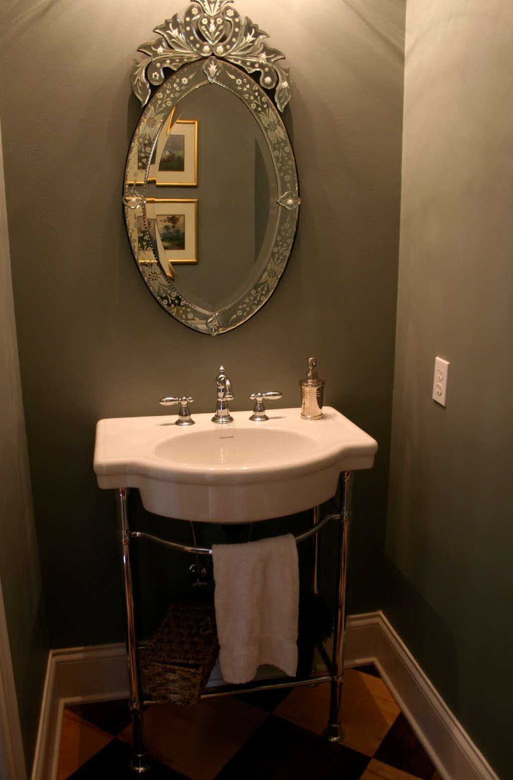 Decorative Powder Room Mirrors Home Design Ideas