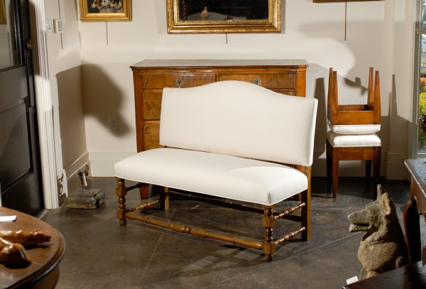 Upholstered Benches with Backs