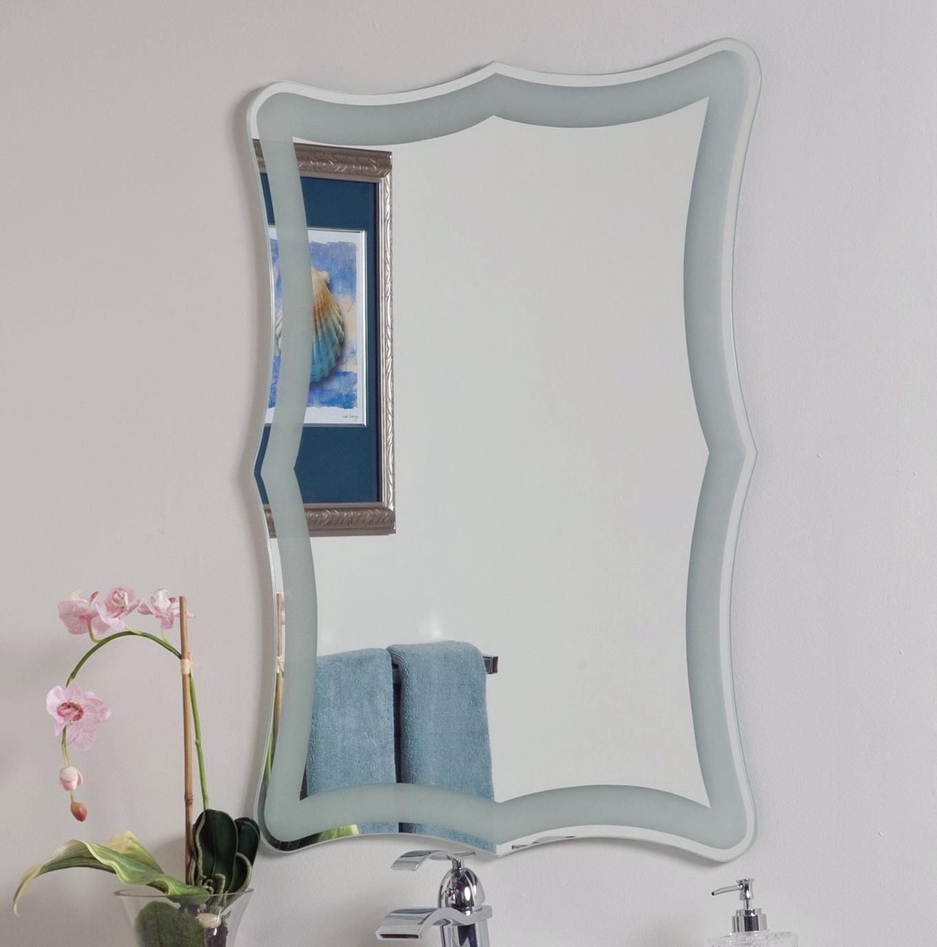 Frameless Bathroom Mirrors Lowes  Home Design Ideas