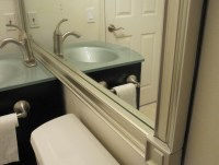 framing bathroom mirrors with crown molding framing a ...