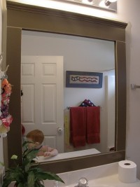 Framing A Bathroom Mirror With Moulding | Home Design Ideas