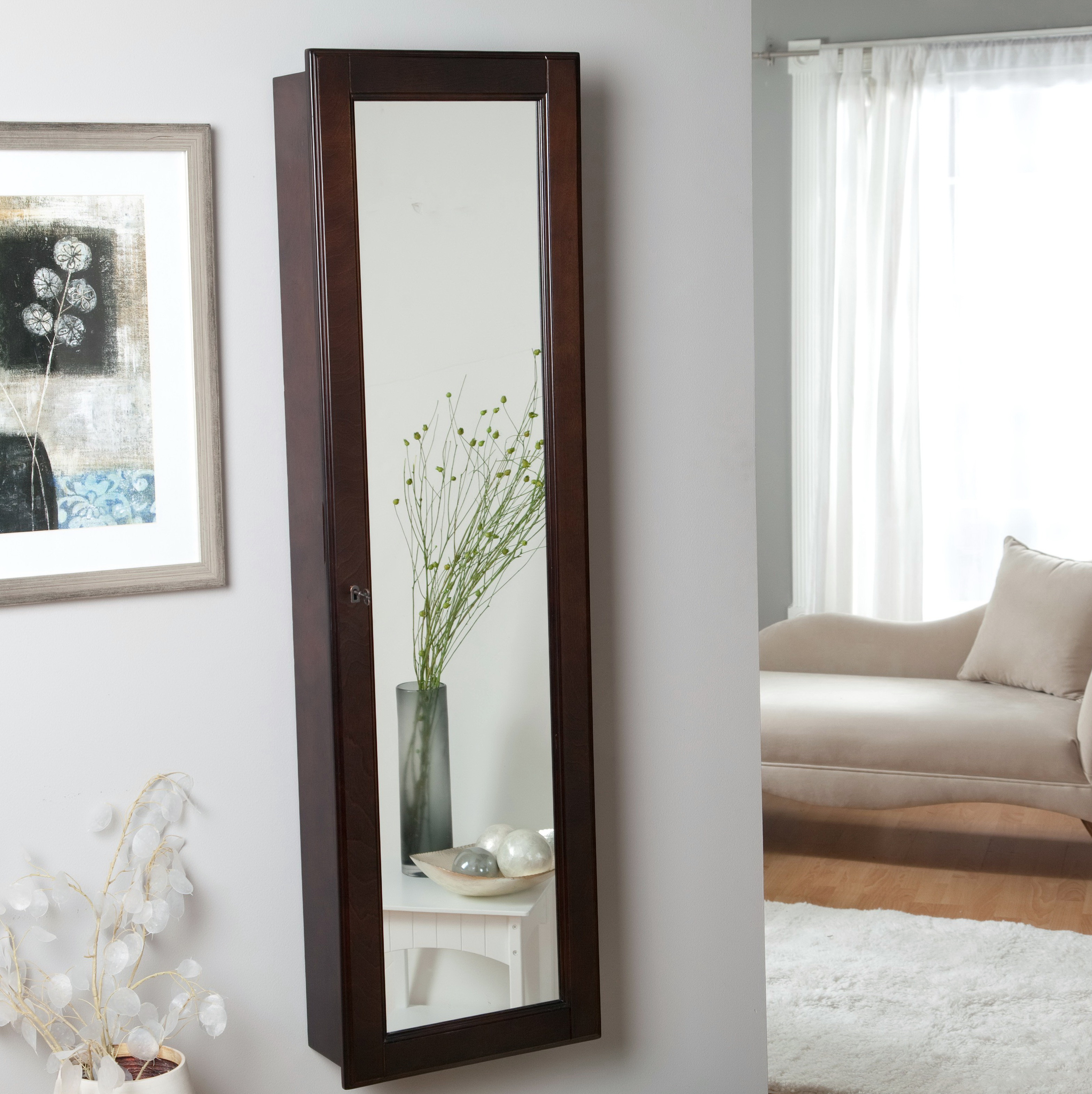 Full Length Mirror With Jewelry Storage Target Home