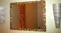 How To Frame A Bathroom Mirror With Mosaic Tiles | Home ...