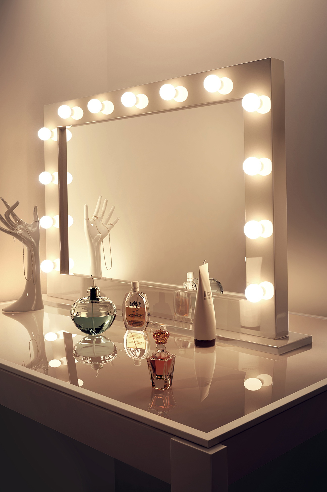 Makeup Mirrors With Lights Around Them Home Design Ideas