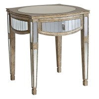 Popular 194 List mirrored end table with drawer