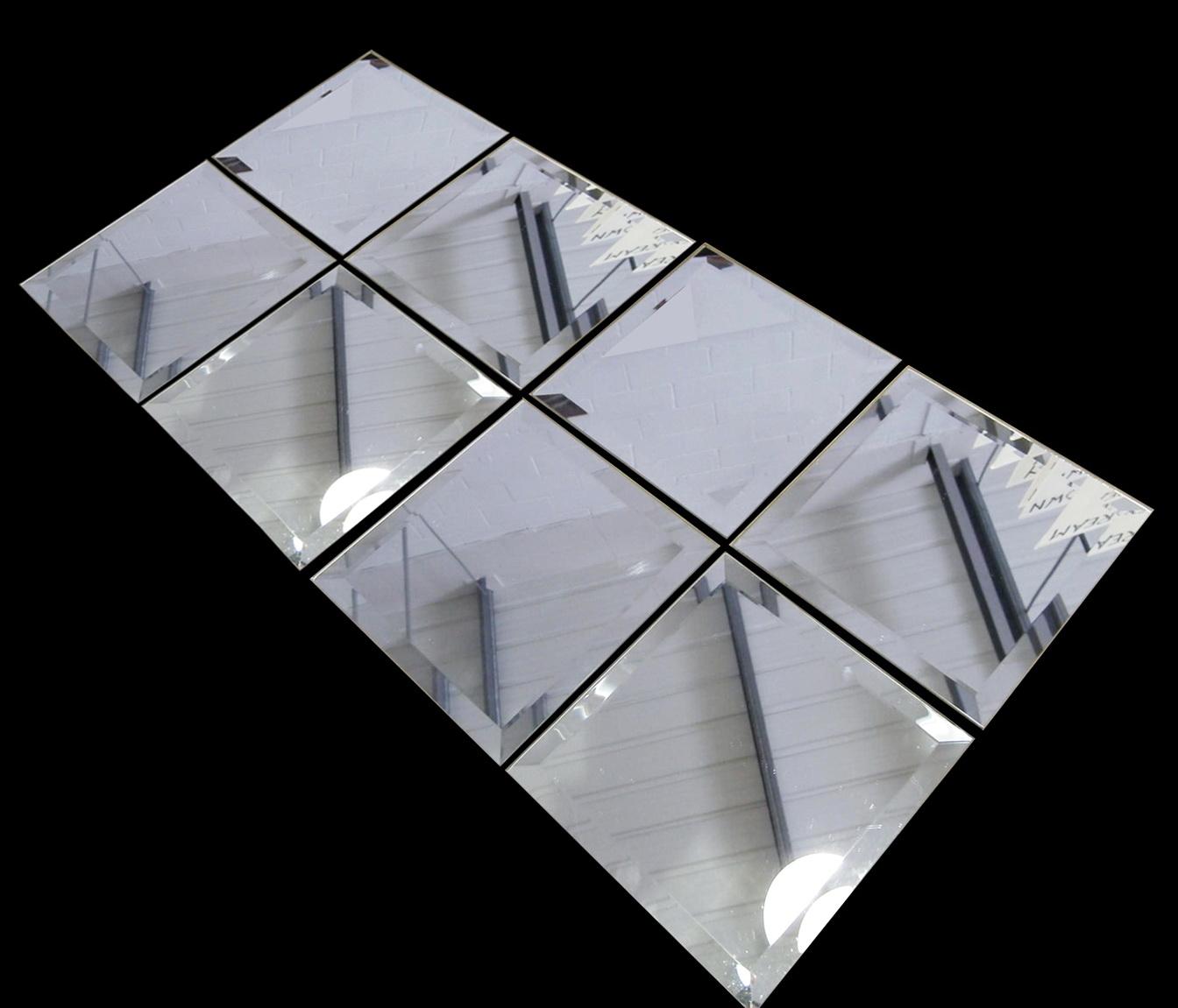 Rectangular Beveled Mirror Tiles  Home Design Ideas