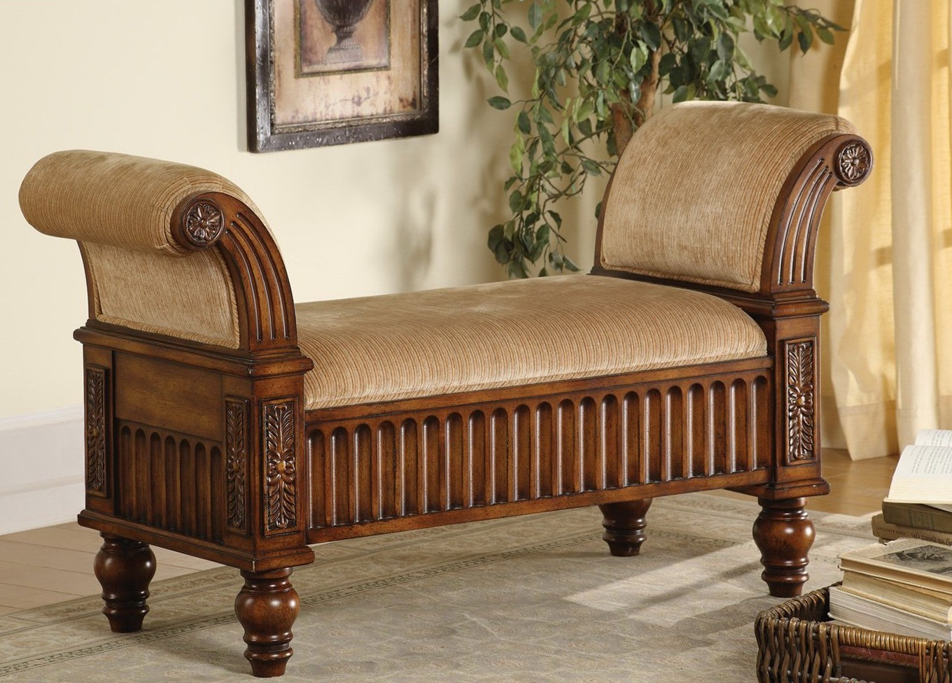Rolled Arm Bench Seat Home Design Ideas