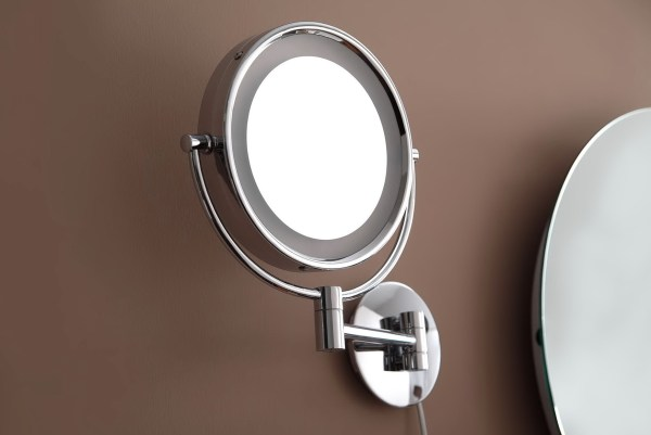 Wall Mounted Magnifying Mirror with Light