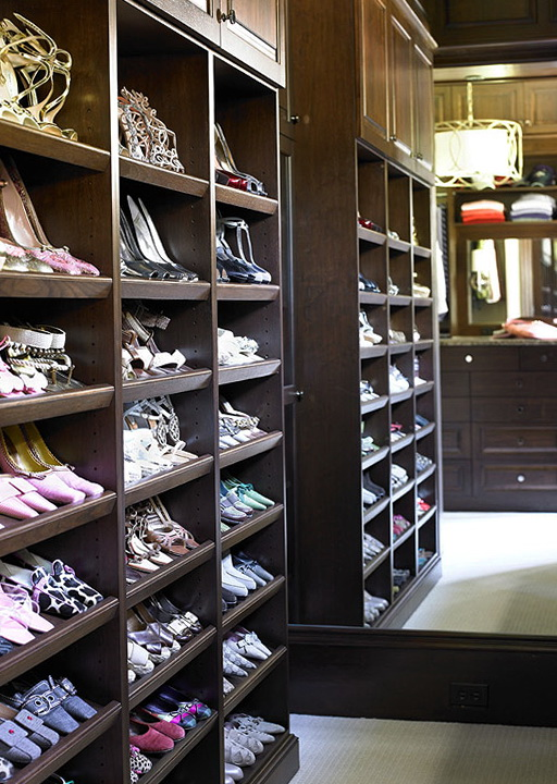 Built In Shoe Racks For Closets  Home Design Ideas