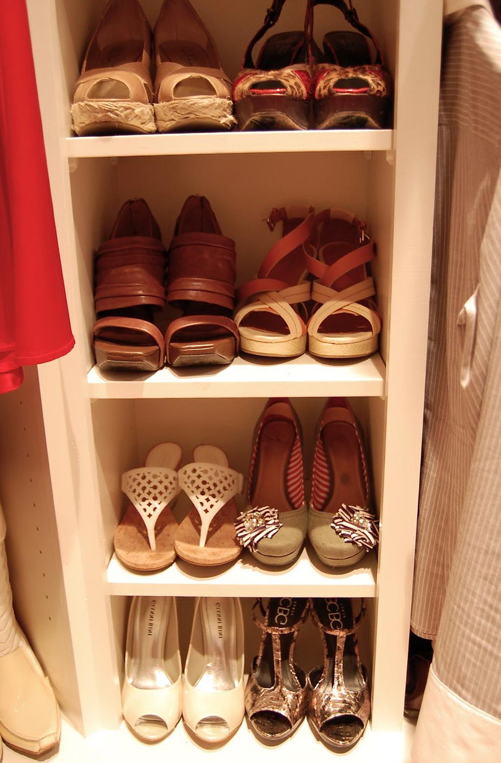 Small Closet Shoe Organizer Home Design Ideas