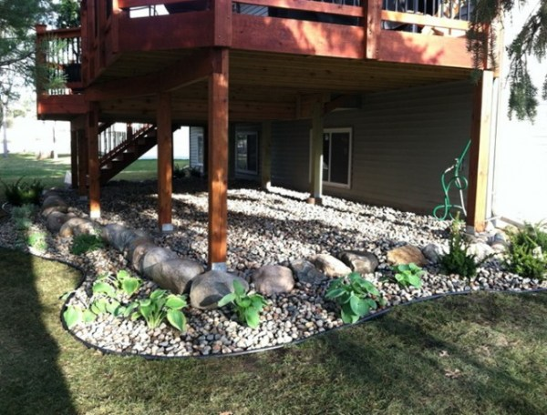 landscaping deck home