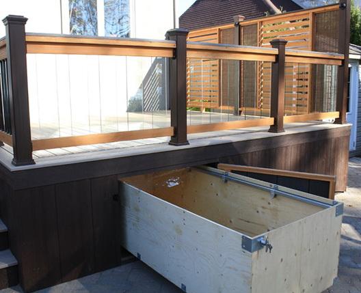 Storage Ottoman Side Table