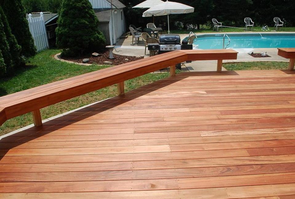 Deck Bench Railing Plans  Home Design Ideas