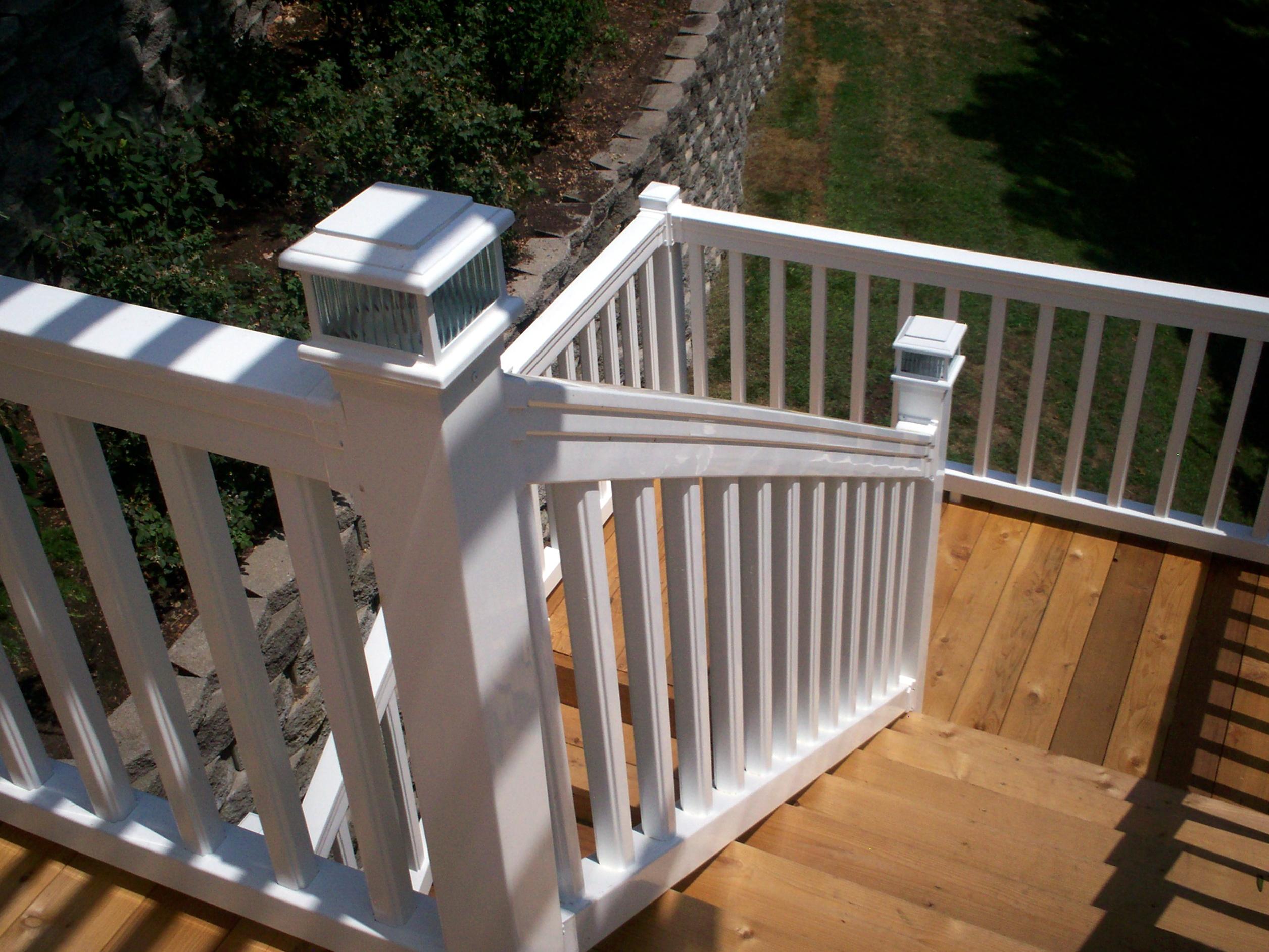 Standard Railing Height Deck Stairs Home Design Ideas