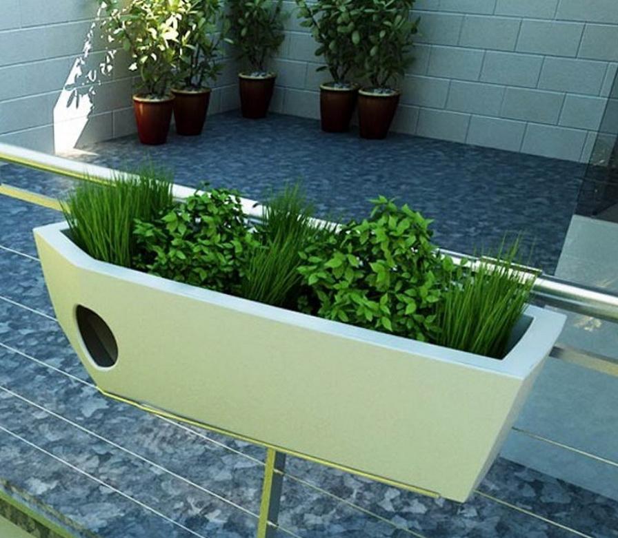 Deck Railing Planter Boxes Plans  Home Design Ideas