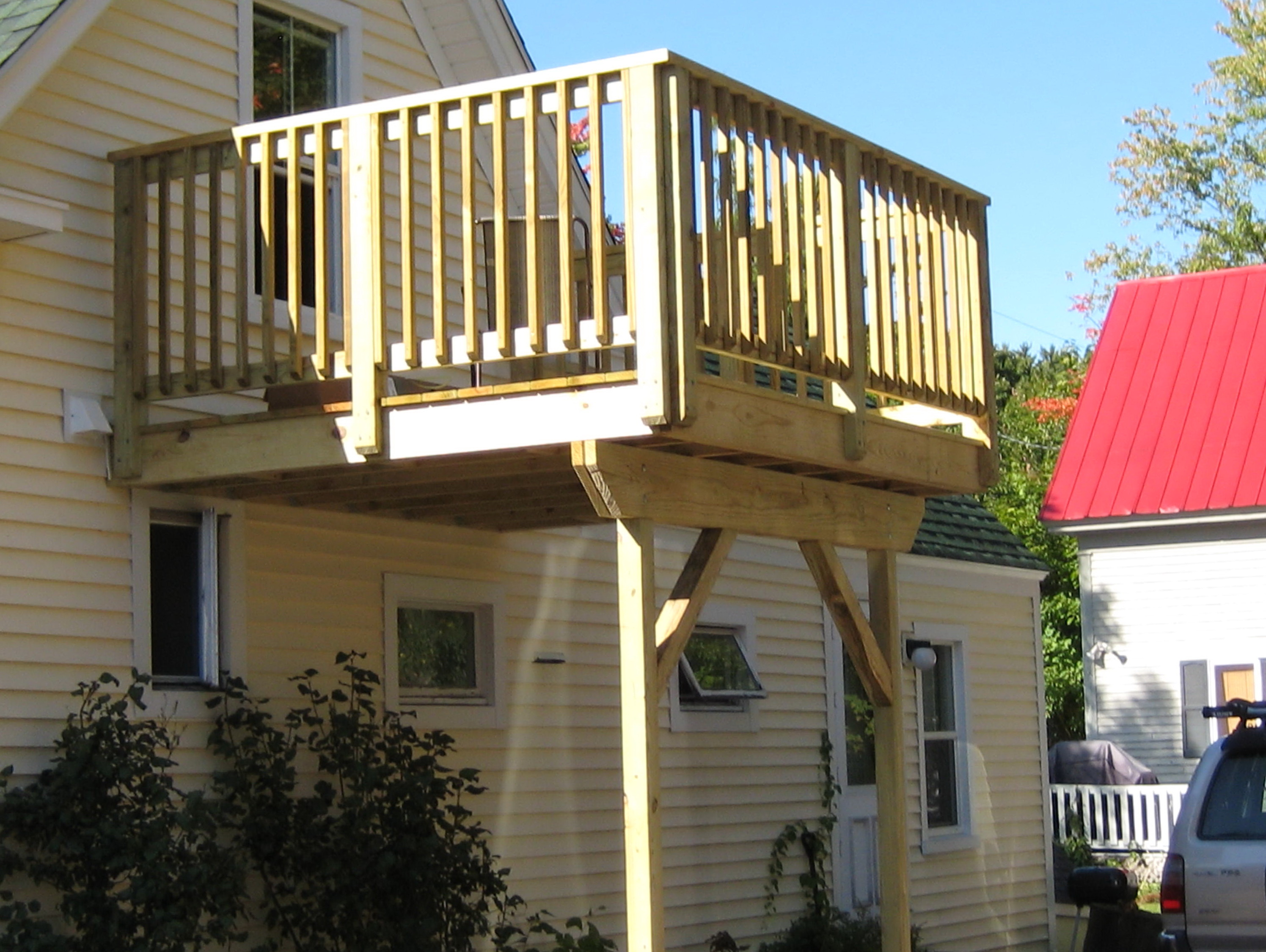 Second Story Deck Pictures  Home Design Ideas