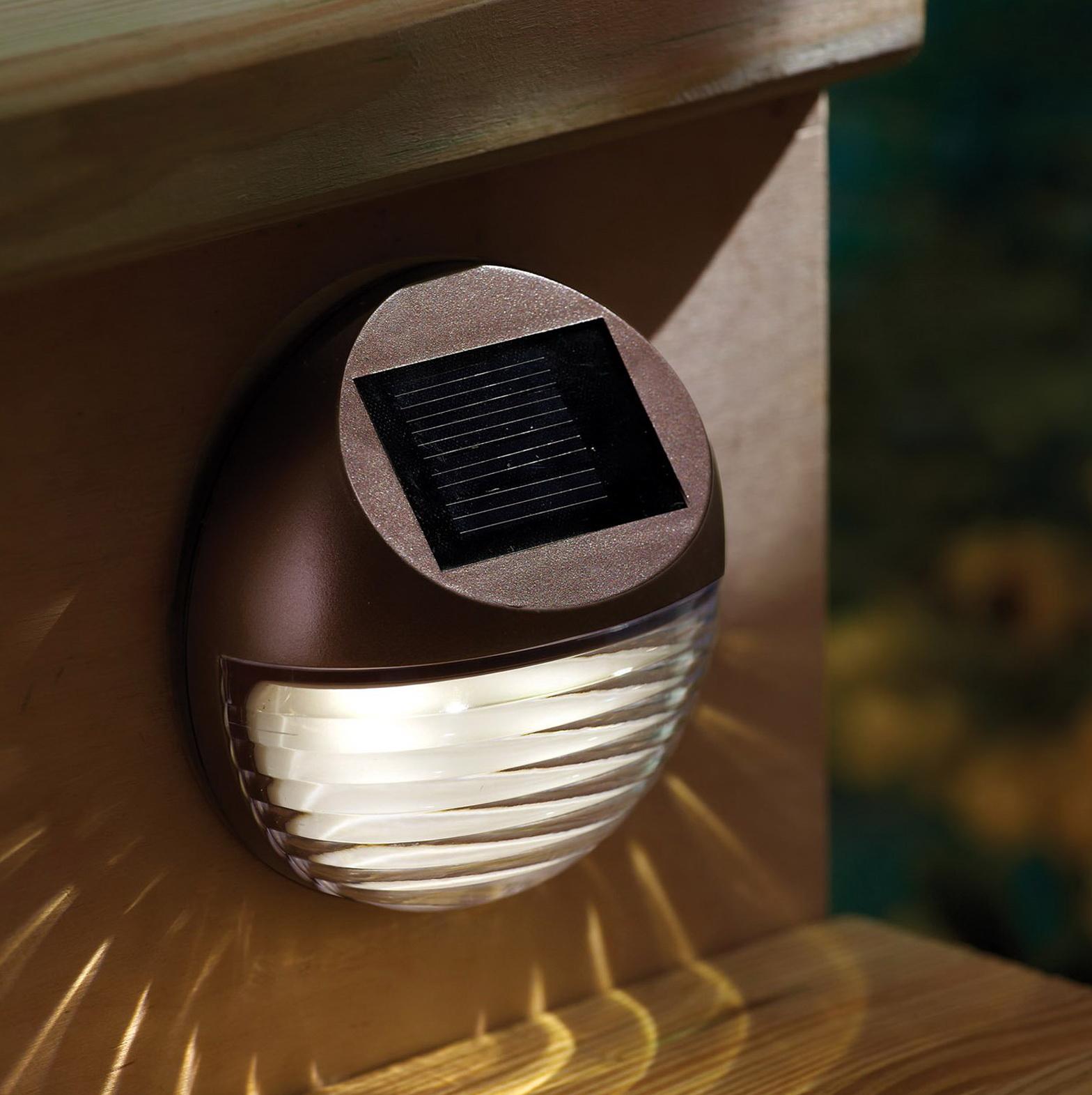 Solar Powered Deck Lights Outdoor Home Design Ideas