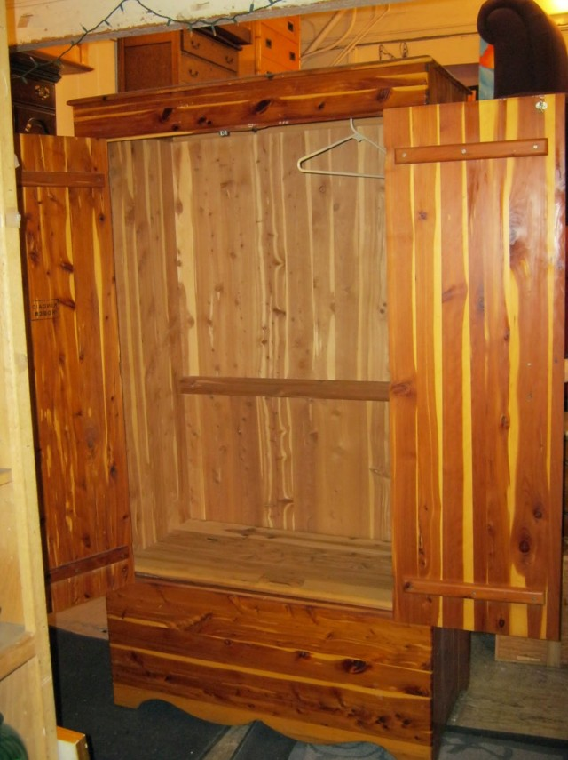 Antique Cedar Wardrobe Closet Home Design Ideas