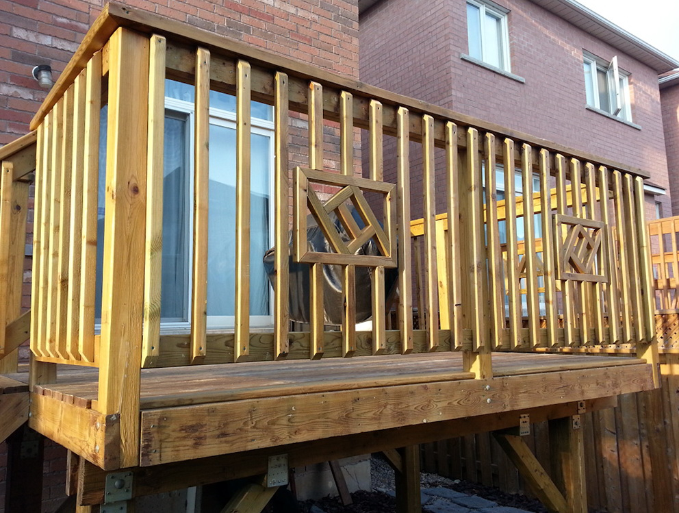 Wood Deck Railing Design Ideas  Home Design Ideas