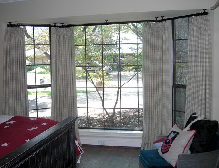 Bay Window Ceiling Mount Curtain Rods  Home Design Ideas