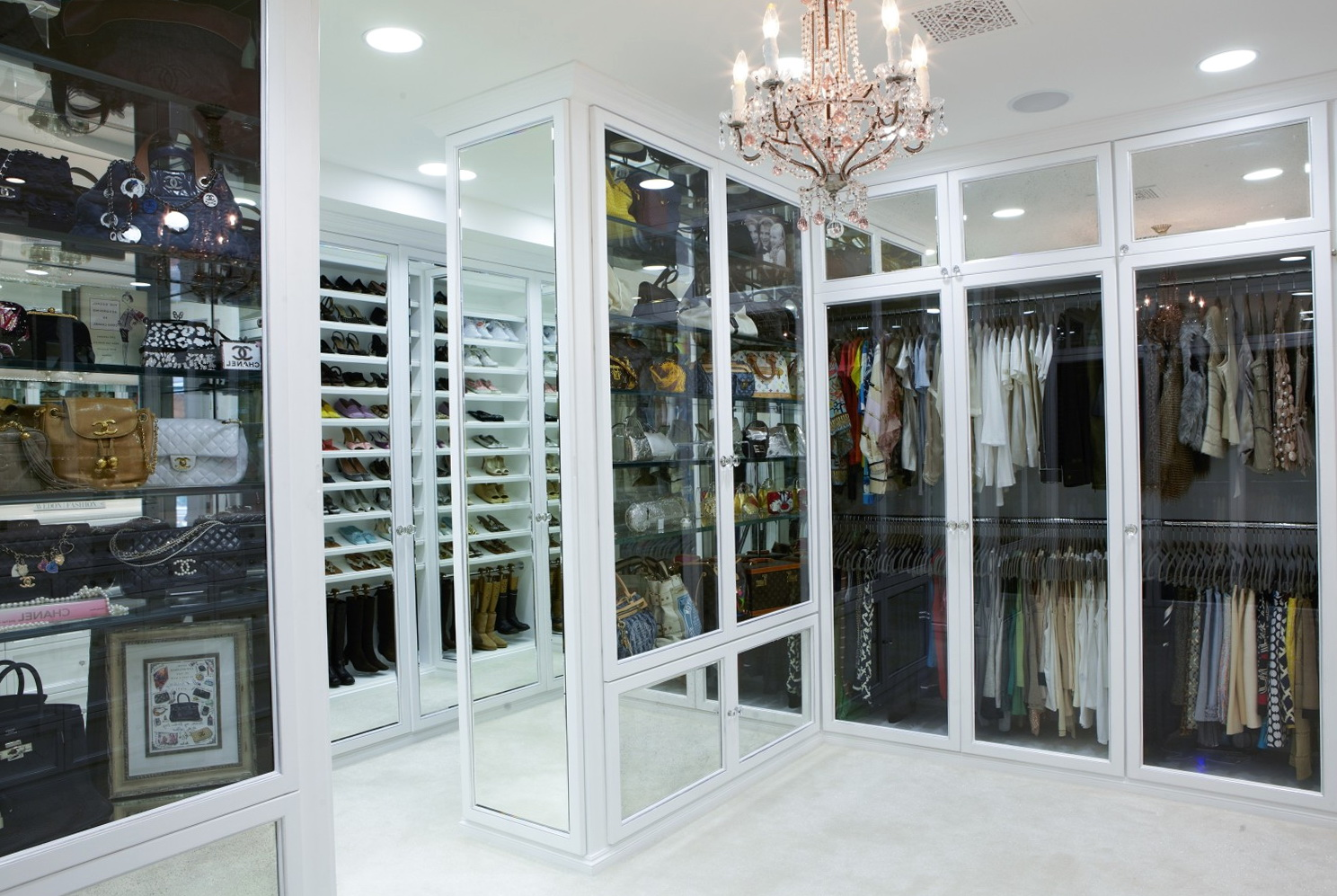 Big Girly Walk In Closets  Home Design Ideas