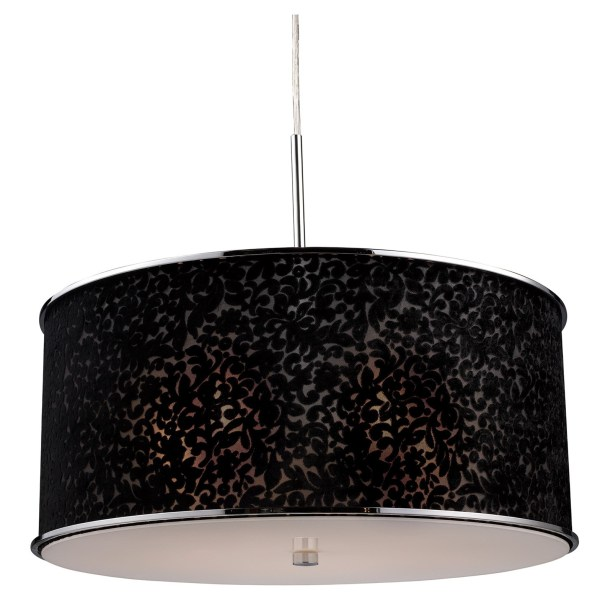 Black Drum Shade Chandelier Home Design Ideas