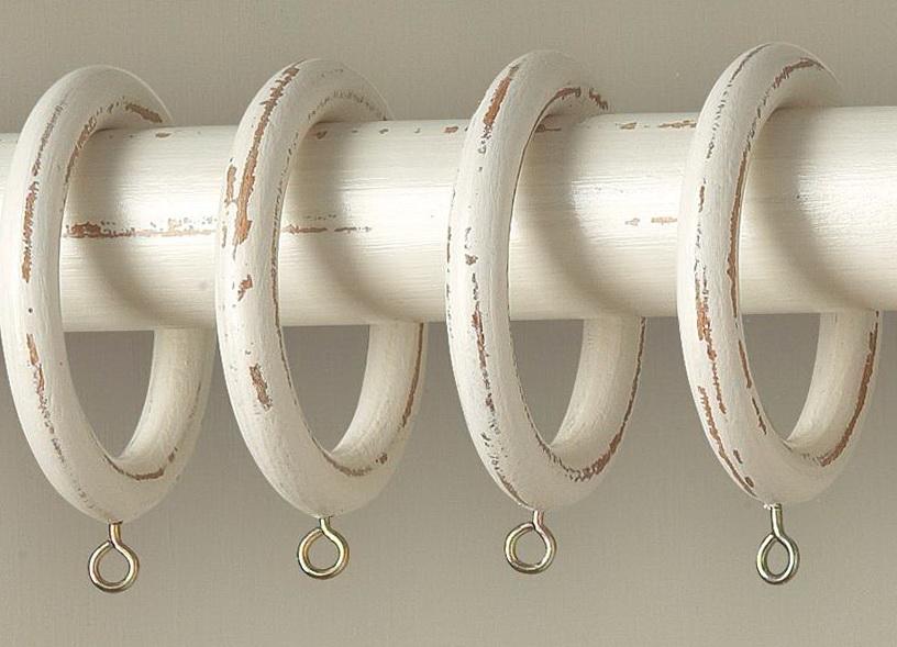 Distressed White Curtain Rod Home Design Ideas