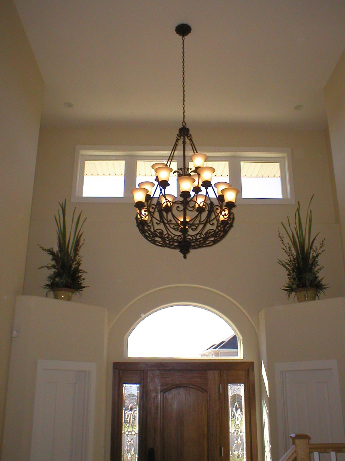 Hanging A Chandelier From A Vaulted Ceiling  Home Design