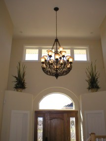 Hanging Chandelier Vaulted Ceiling Home Design