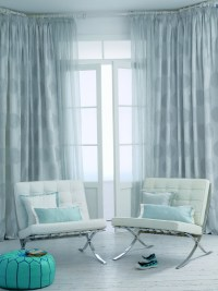 Light Blue Patterned Curtains Living Room