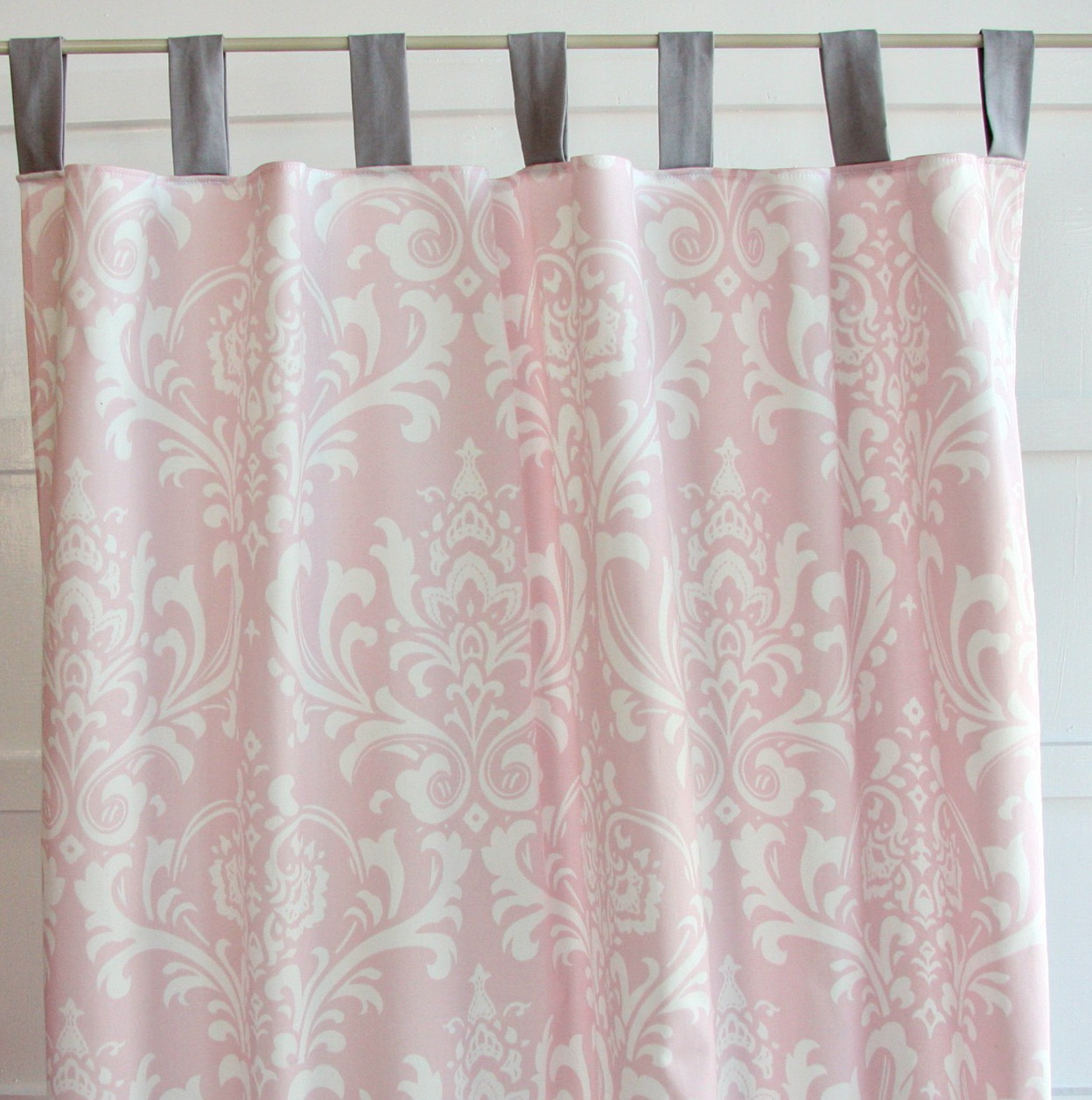 Pink And White Blackout Curtains Home Design Ideas