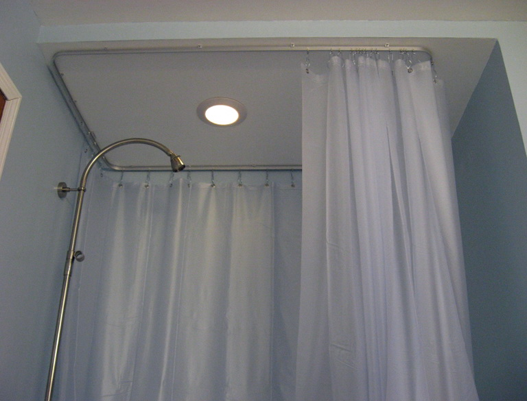 Round Shower Curtain Rod Target  Home Design Ideas