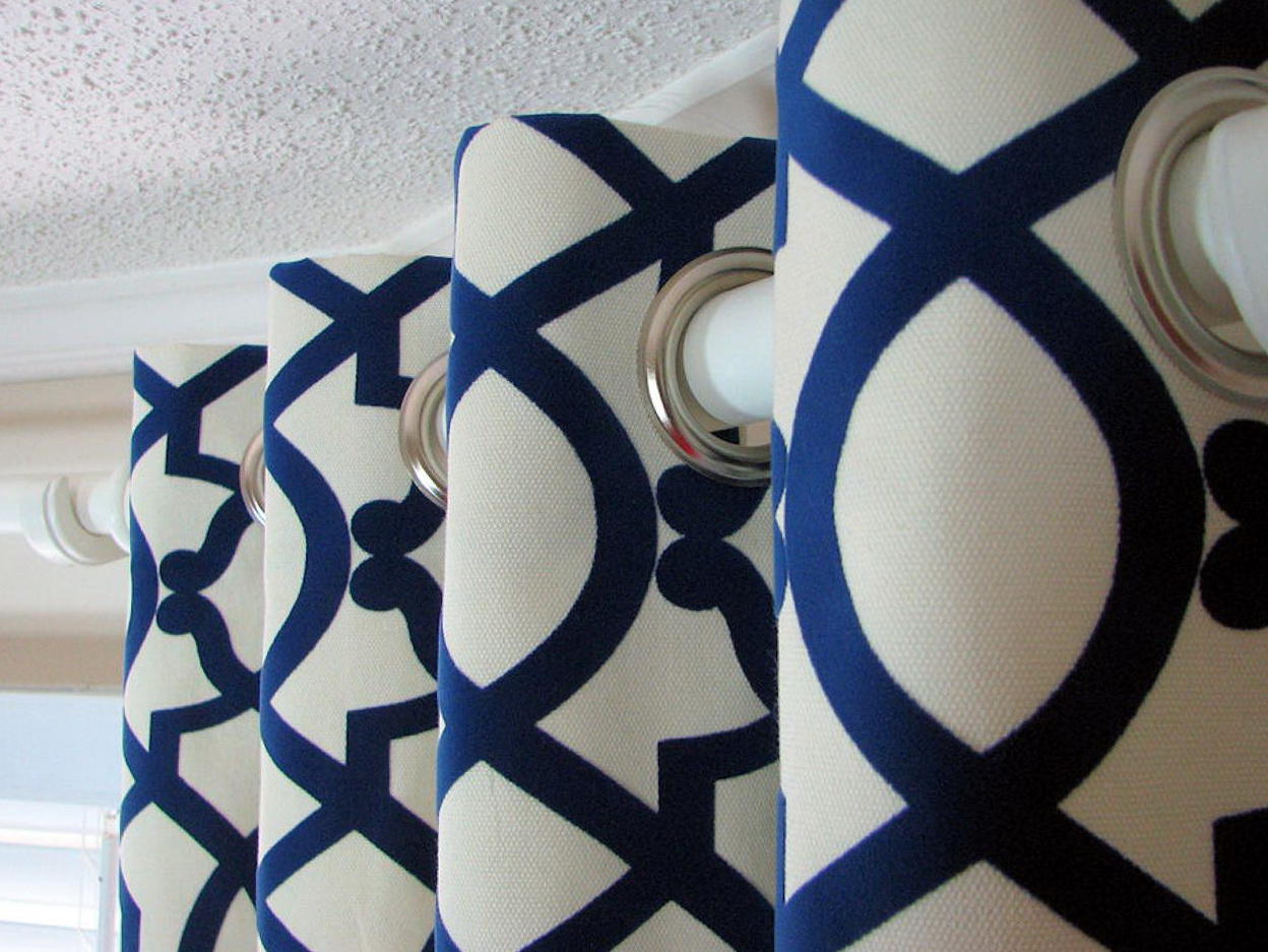 Royal Blue And White Curtains  Home Design Ideas
