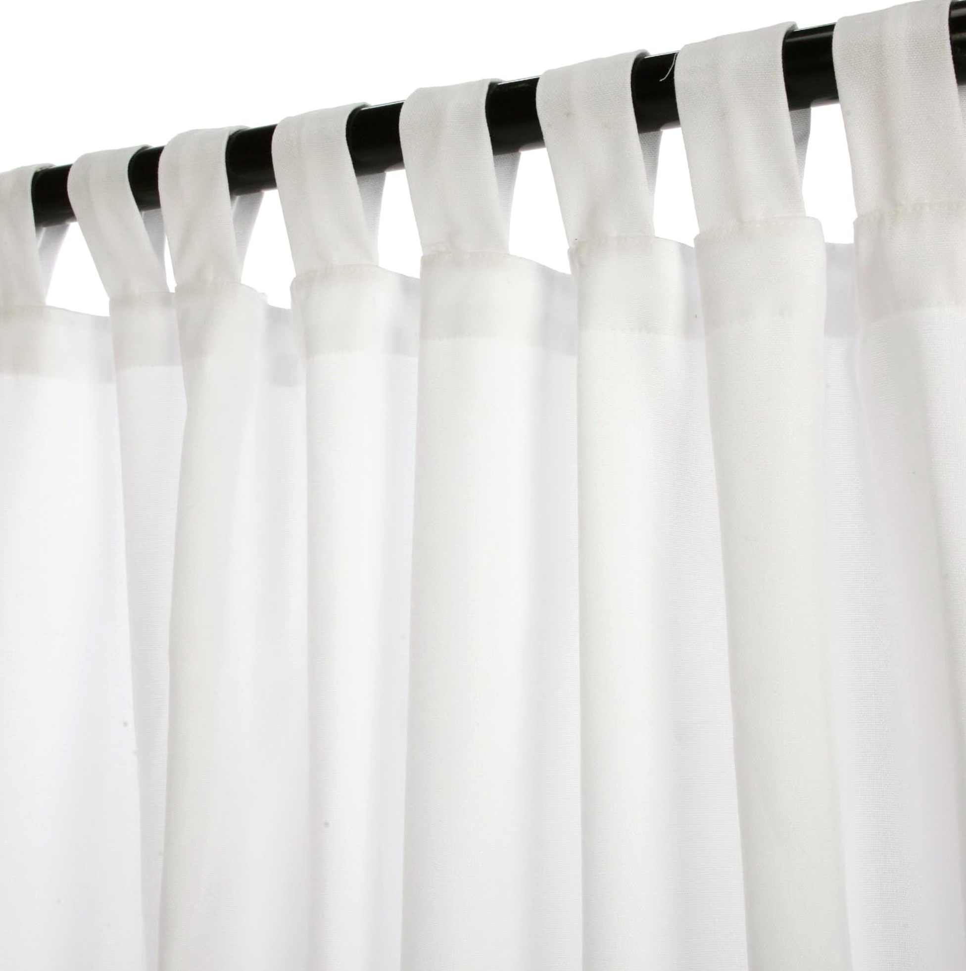 White Linen Tab Top Curtains  Home Design Ideas