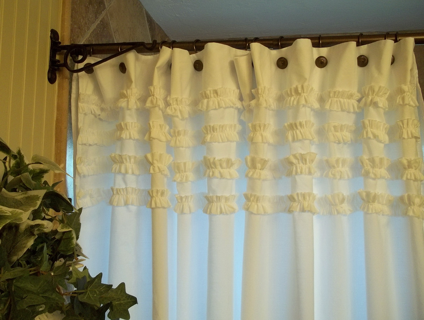 White Ruffle Curtains Target Home Design Ideas