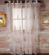 White Sheer Curtains With Gold | Home Design Ideas