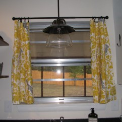 Yellow And Red Kitchen Curtains Wood Tile Floor Gray Home Design Ideas