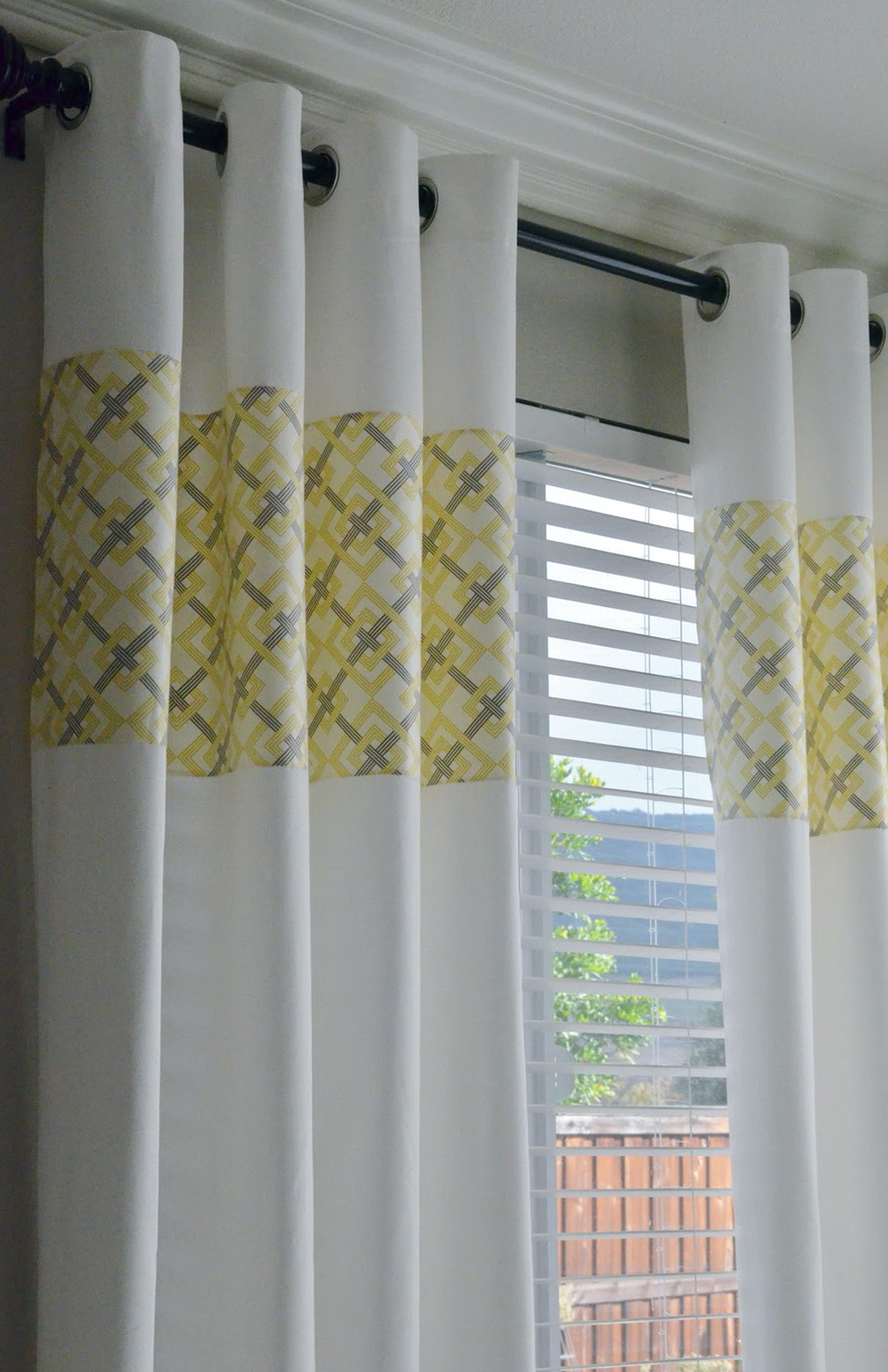 Yellow Gray And White Curtains  Home Design Ideas