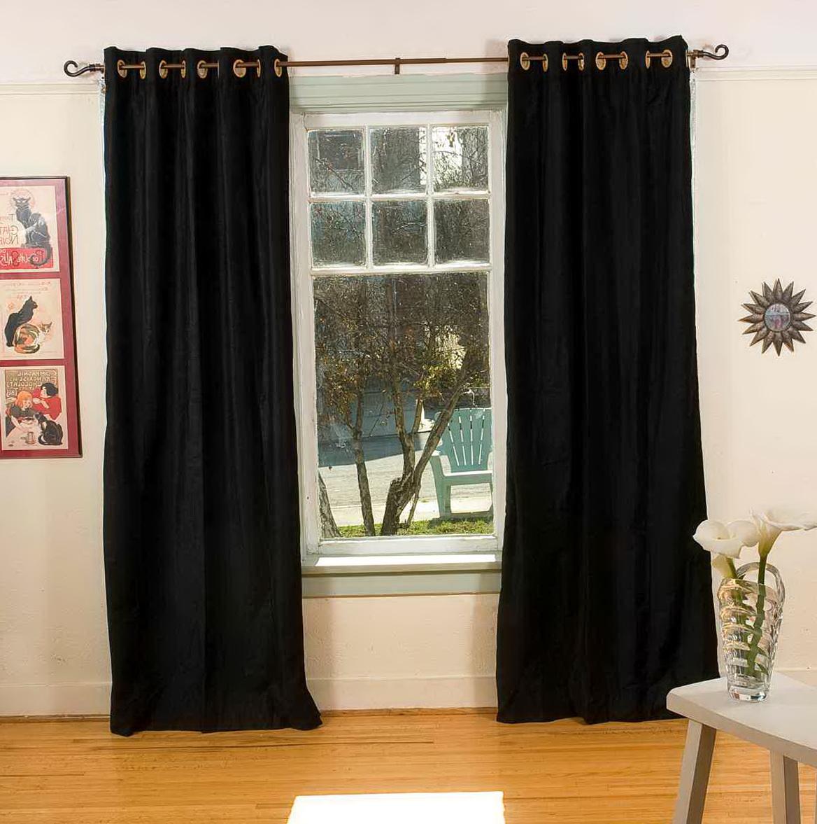Black Velvet Curtains Ebay  Home Design Ideas
