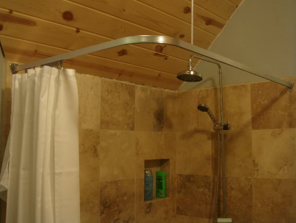 Corner Shower Curtain Rods  Home Design Ideas