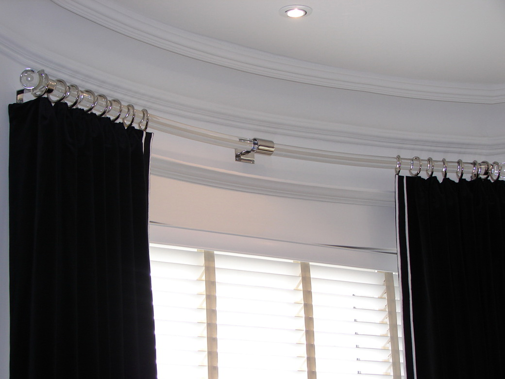 Curved Curtain Rods For Bay Windows Home Design Ideas