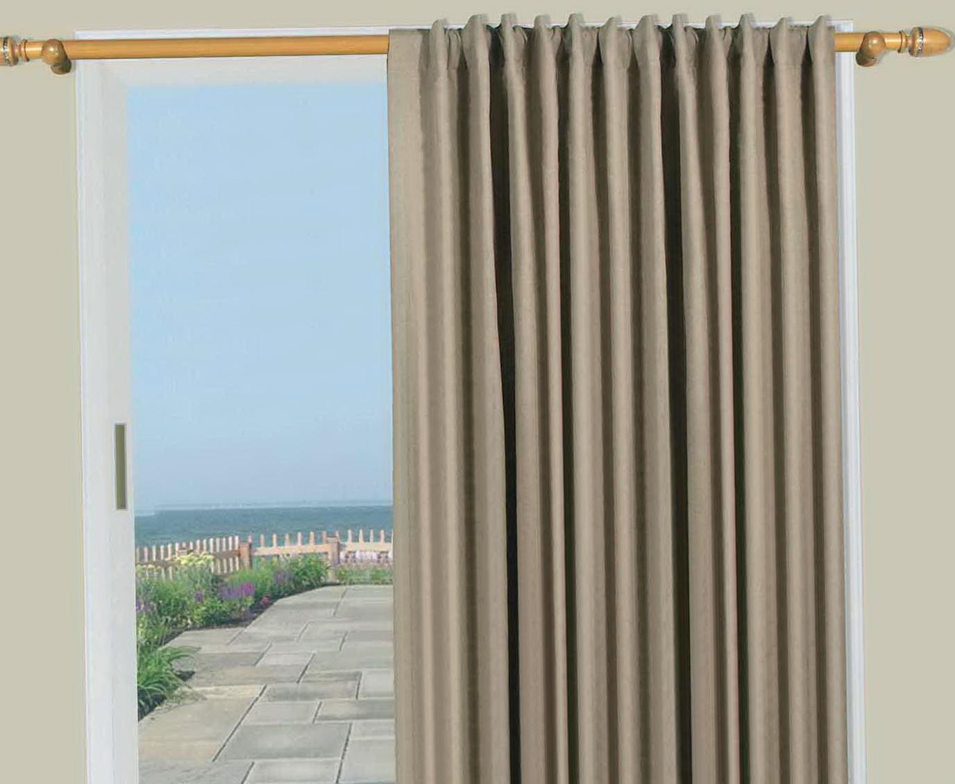 Patio Door Curtain Panel  Home Design Ideas
