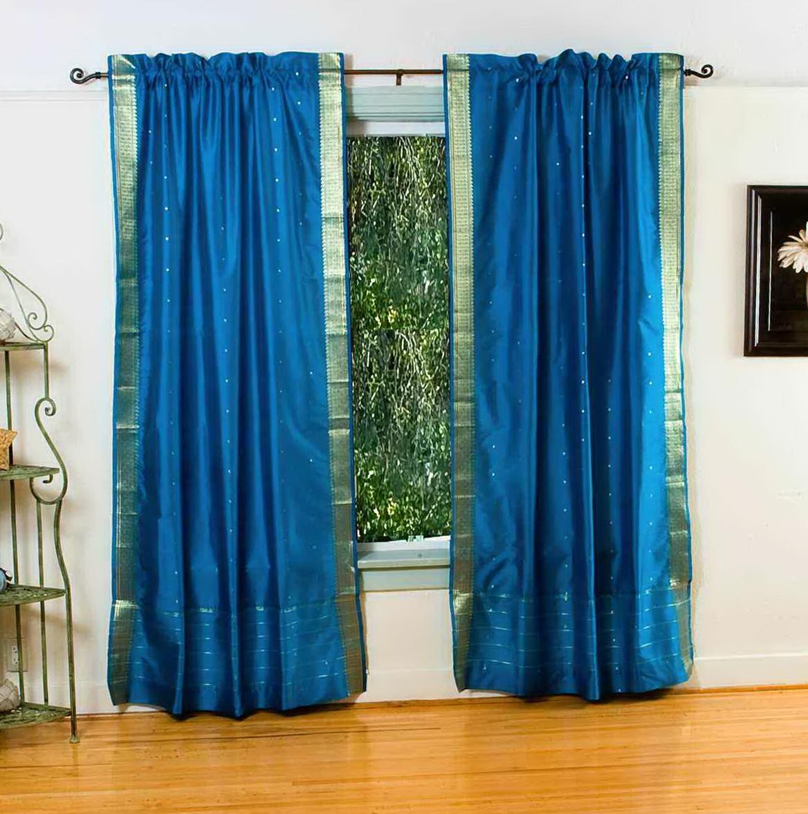 Peacock Blue Sheer Curtains Home Design Ideas
