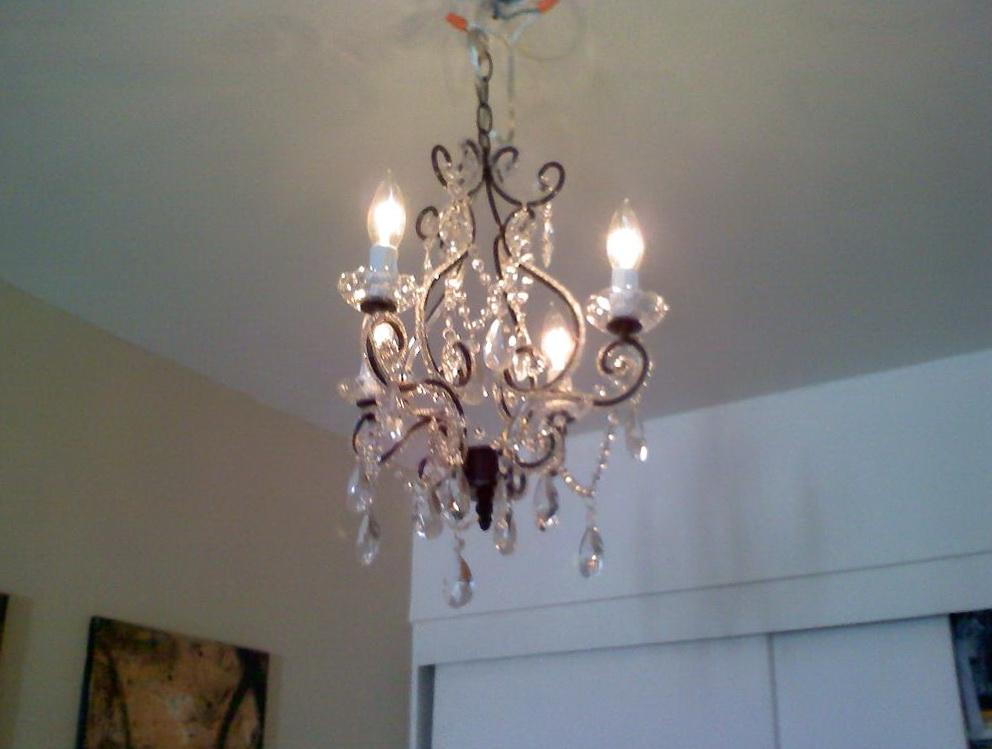 Plug In Chandelier In A Bedroom Home Design Ideas